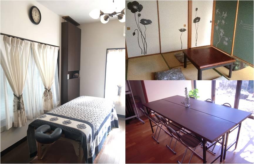 レンタルスペース セミナールーム 茶の間(和室) サロン カウンセリングルーム キッチン